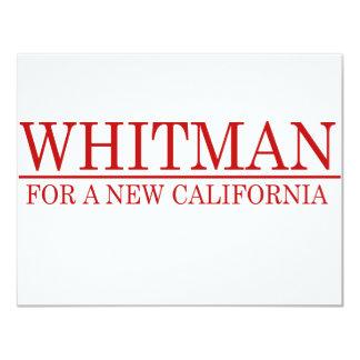 "Whitman - A New California 4.25"" X 5.5"" Invitation Card"