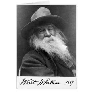 """Whitman Age 68 """"More Immortal Even Than the Stars"""" Greeting Card"""