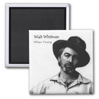 Whitman cuando jóvenes imán cuadrado