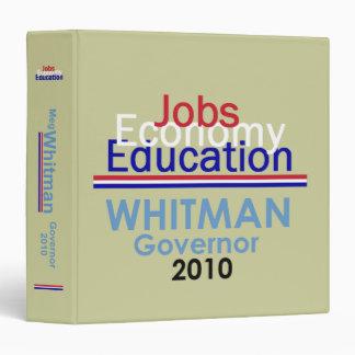 WHITMAN Governor Avery Binder
