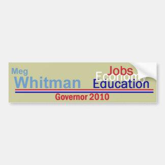 WHITMAN Governor Bumper Sticker
