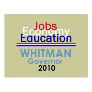 WHITMAN Governor Postcard