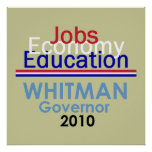 WHITMAN Governor POSTER Print
