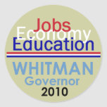 WHITMAN Governor Sticker