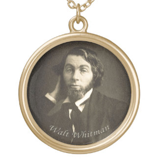 Whitman in New Orleans 1848 Round Pendant Necklace