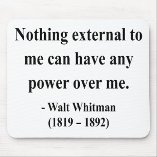 Whitman Quote 10a Mouse Pad