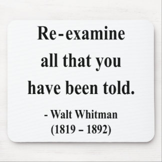 Whitman Quote 1a Mouse Pad