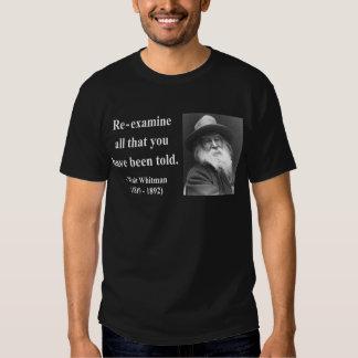 Whitman Quote 1b Tee Shirt