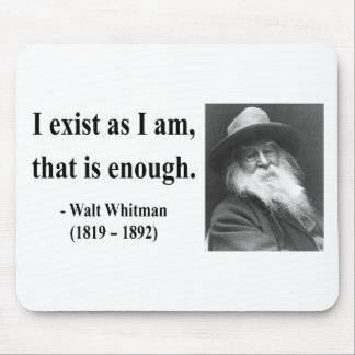 Whitman Quote 3b Mouse Pad