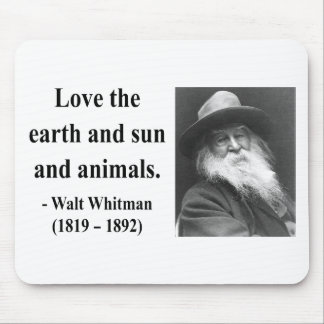 Whitman Quote 4b Mouse Pad