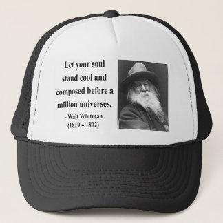 Whitman Quote 5b Trucker Hat