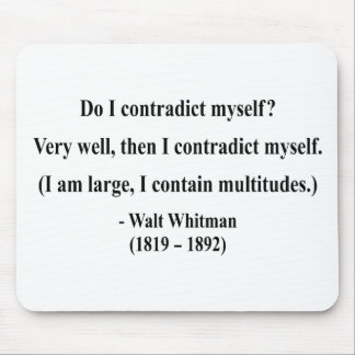 Whitman Quote 6a Mouse Pad