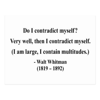 Whitman Quote 6a Post Card