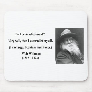 Whitman Quote 6b Mouse Pad