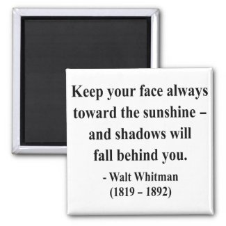 Whitman Quote 7a magnet