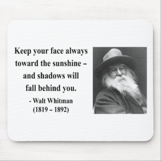 Whitman Quote 7b Mouse Pad