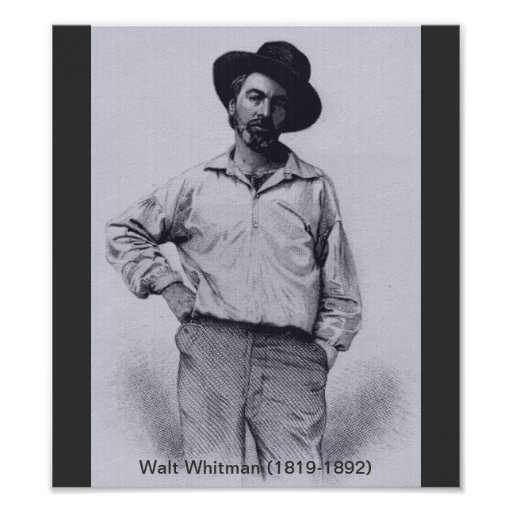 Whitman when Young Poster