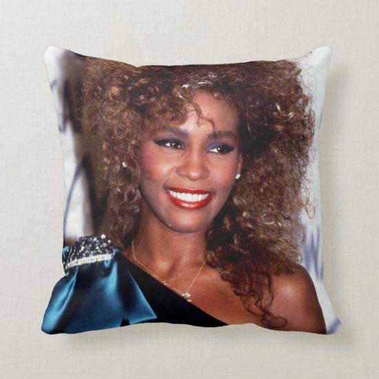 Whitney Houston   American Music Awards Throw Pillow