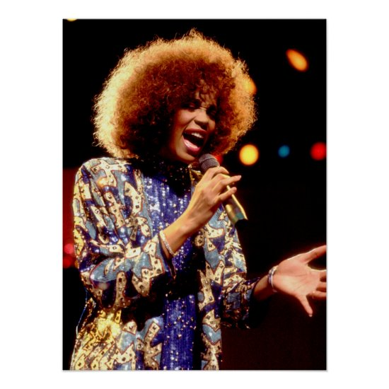 Whitney Houston   Chicago 1986 Poster
