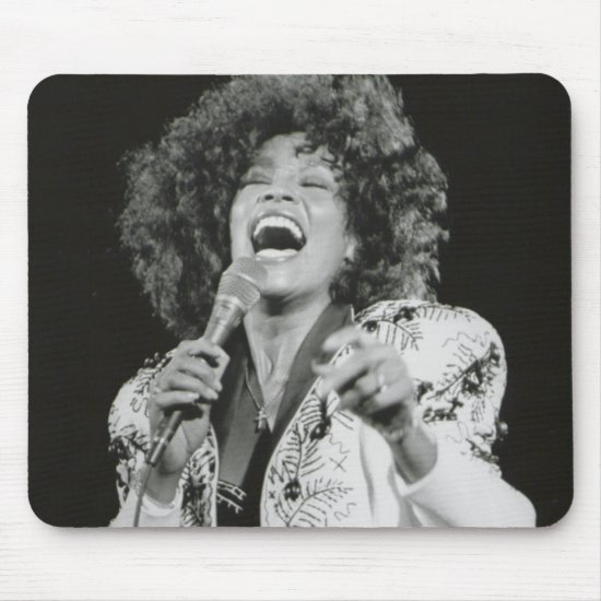 Whitney Houston | Singing BW Mouse Pad
