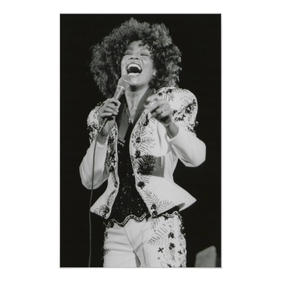 Whitney Houston | Singing BW Poster