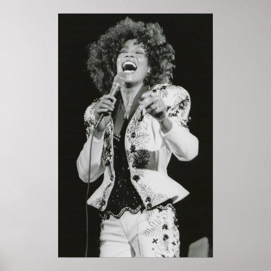 Whitney Houston   Singing BW Poster