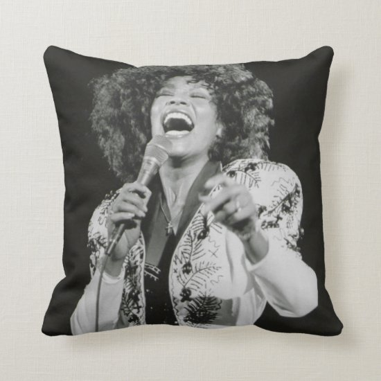Whitney Houston | Singing BW Throw Pillow