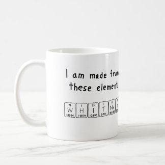Whitney periodic table name mug