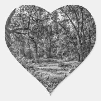 Whitney Valley Oaks Heart Sticker