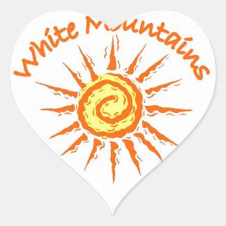 Whitre Mountains Heart Sticker