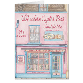 Whitstable Greeting Card - Wheelers Oyster Bar