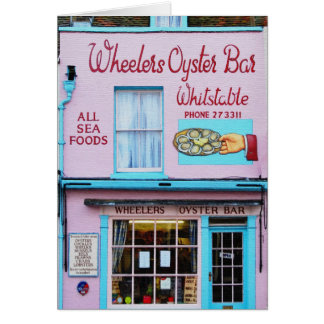 Whitstable Oyster Bar Card