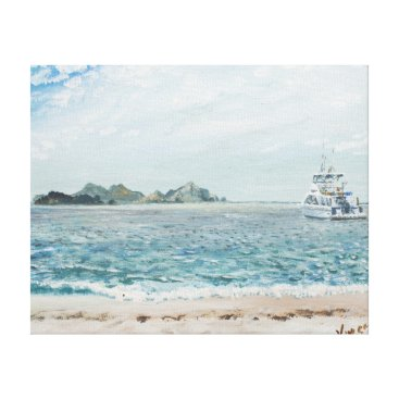 Beach Themed Whitsunday Islands Australia. 1998 Canvas Print