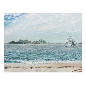Beach Themed Whitsunday Islands Australia. 1998 Postcard