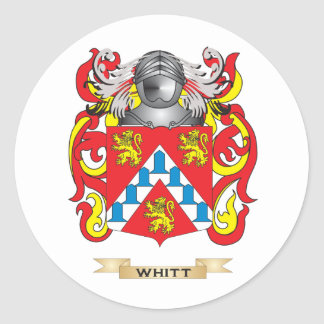 Whitt Family Crest Coat of Arms Round Stickers