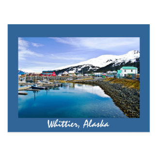Whittier, Alaska, los E.E.U.U. Tarjeta Postal