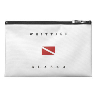 Whittier Alaska Scuba Dive Flag Travel Accessory Bag