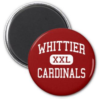 Whittier - cardenales - alto - Whittier California Imán Redondo 5 Cm