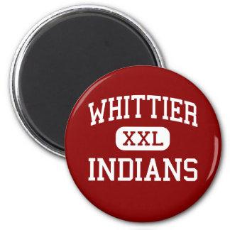 Whittier - indios - escuela secundaria - Lorain Oh Imán Redondo 5 Cm