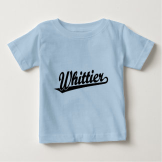 Whittier script logo in black baby T-Shirt