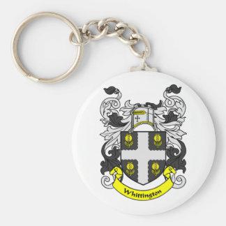 WHITTINGTON Coat of Arms Keychain