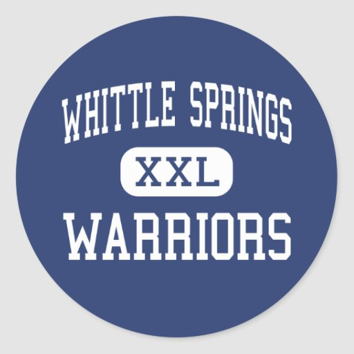 Whittle Springs Warriors Middle Knoxville Stickers