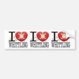 Whittling Love Man Bumper Sticker