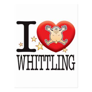 Whittling Love Man Postcard