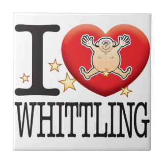Whittling Love Man Tile