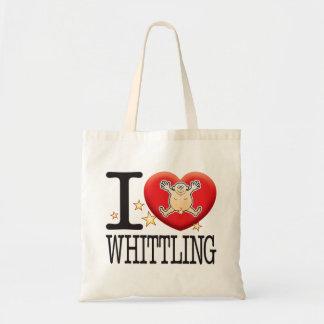 Whittling Love Man Tote Bag