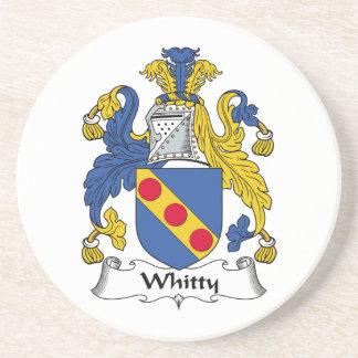 Whitty Family Crest Posavasos Para Bebidas
