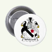 Whitworth Family Crest Button