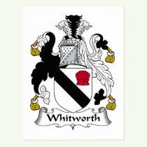 Whitworth Family Crest Postcard