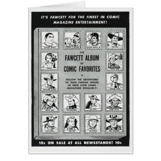 Whiz 1951 Western comic heroes Greeting Card
